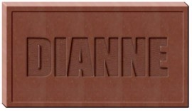 BUSINESS CARD SIZED CHOCOLATE NAME MOLD