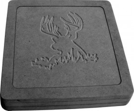 Buck Deer Square Stepping Stone Mold